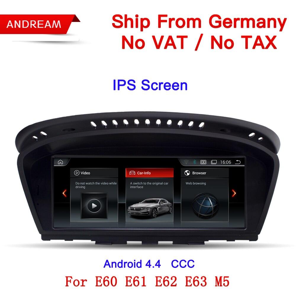 Allemagne Livraison Gratuite 8.8 Android Écran ID6 UI lecteur multimédia Pour BMW Série 5 E60 E61 E62 E63 GPS navigation EW963A-CCC