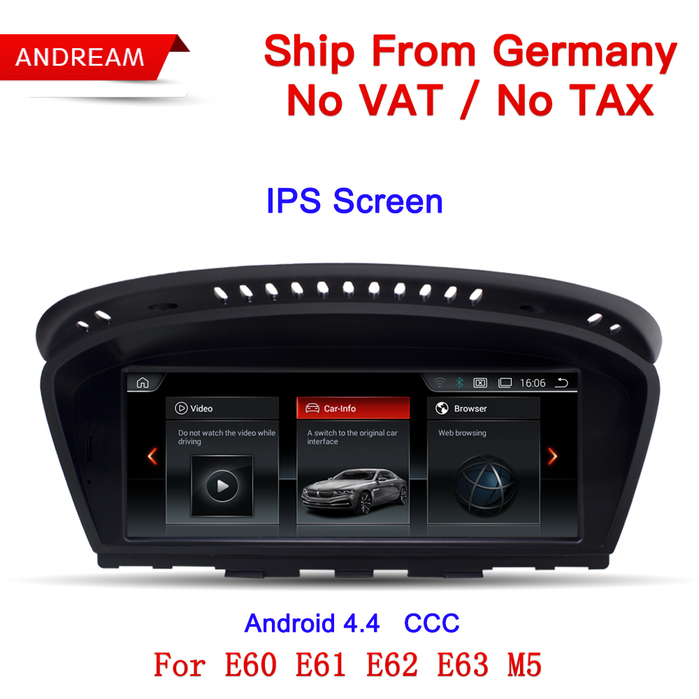 Germany Free Shipping 8.8 Android Screen ID6 UI multimedia player For BMW Series 5 E60 E61 E62 E63 GPS Navigation EW963A-CCC