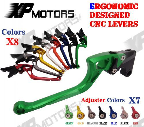 ФОТО Ergonomic New CNC Adjustable Right-angled 170mm Brake Clutch Levers For Ninja ZX-6R ZX-9R ZX-10R ZX-12R