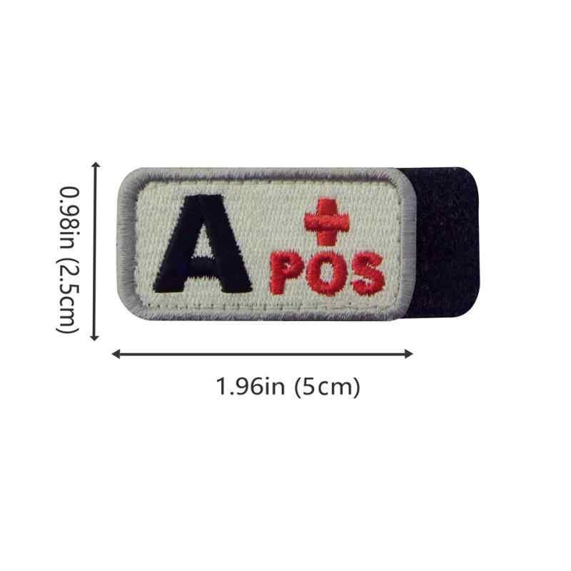 Embird łatki haczyk i pętli łatki szyć na 3 fotki krew typ A odzież akcesoria łatka wojskowe dla kurtki odznaka