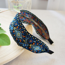 Terbaru Wanita Bohemian Wanita Etnis Bordir Pita Hairbands Headband Aksesoris Rambut Indah Etnis Pola Lebar Turban
