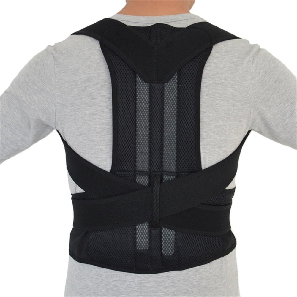 ФОТО New Back Shoulder Support Relieve Lower Back Pain Posture Corrector Prevention Of  Customary Humpback