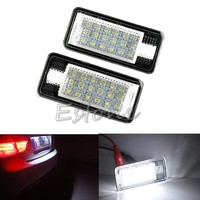 Interior Car LED Lights 2x Error Free White LED License Plate Light Lamp For Audi A3