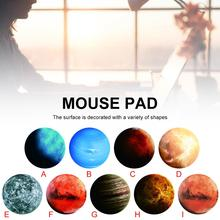 Mouse pad Diameter 20CM Thickness 3MM Non-slip Round Creativity starry sky Mouse Pad Planet Series Mat