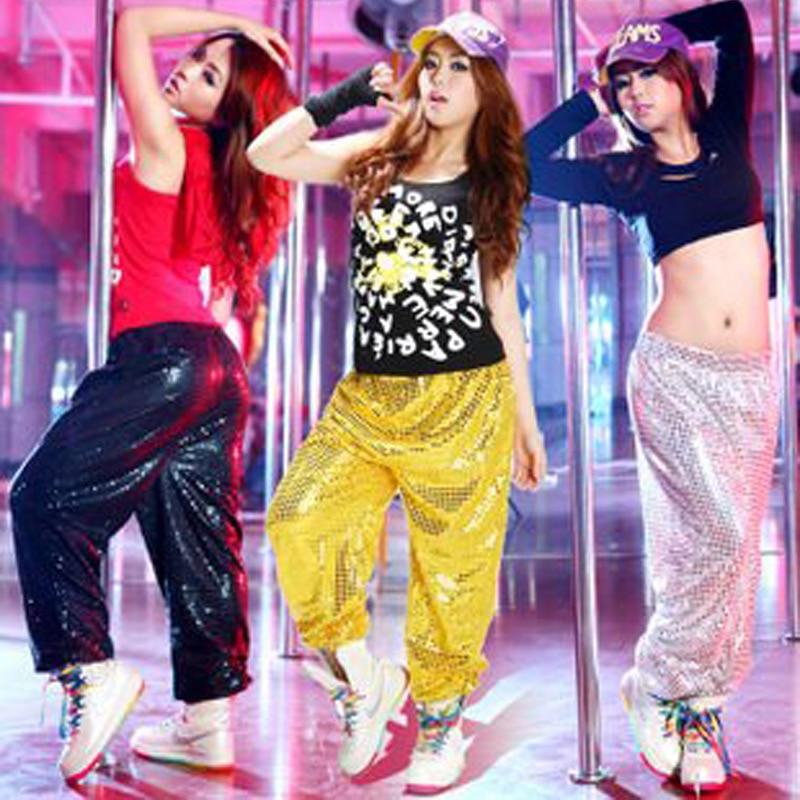 Men Women Harem Pants Unisex Cool Shiny Sequin Hiphop Trousers Loose Bling Women S Ds Costumes Dance Pants