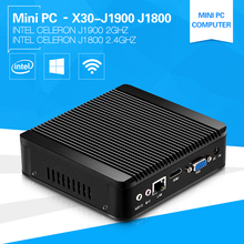 Fanless Mini PC Windows 10 Intel Celeron J1900 Quad Core Four Thread HDMI VGA WiFi USB