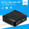 Mini PC Windows10 4 Г Ram J1900 Quad Core Четыре Темы Celeon 2.42 ГГц J1800 с USB 3.0 Настольных Компьютера 12 V