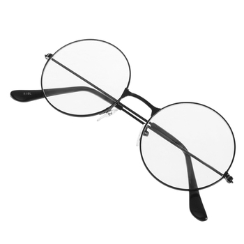 Vintage Style Women/Men Popular Round Metal Clear Lens Glasses Frame Trendy Unisex Nerd Anti-radiation Spectacles Eyeglass Frame