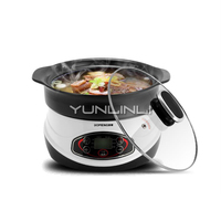 3L Healthy Ceramic Stew Pot 3L Multifunctional 1200W Electric Stew Pot Household Mini Cooker HT 30D