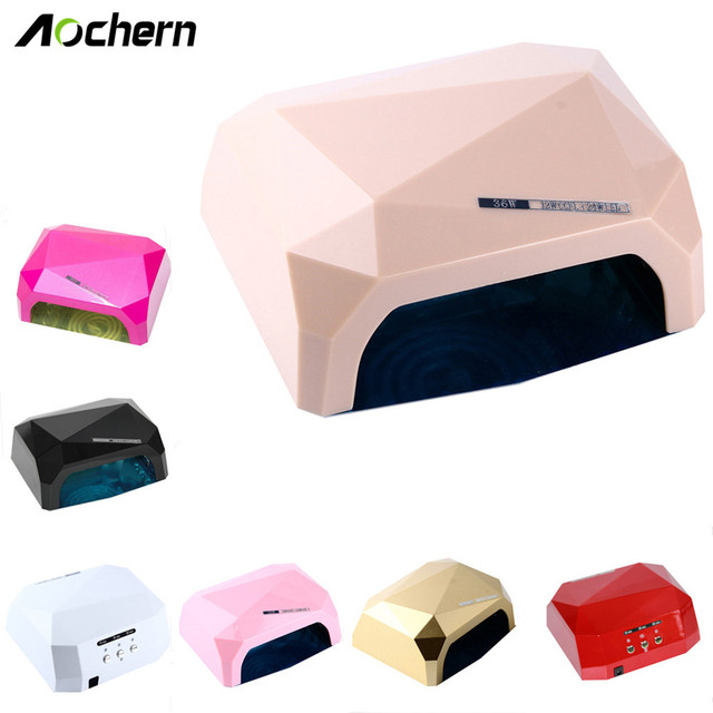 Aochern New Popular Drying Gel Polish Nail Tools 36W Nail Dryer Red Diamond Shape LED  Light Gel Curing Lamps#diamond