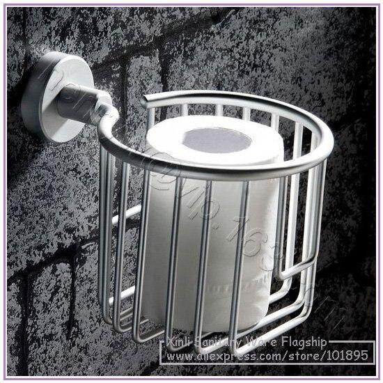 X16460-Роскошные Настенные алюминиевые аксессуары для ванной комнаты, включая туалетную корзина для салфеток держатель с кольцом для полотенец и мыльницей - Цвет: Paper Holder