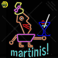 NEON SIGN For Martini Glass Girl Cup NEON Bulbs Sign Handcraft Beer Game Room light up sign Business Neon lights for sale BRIGHT