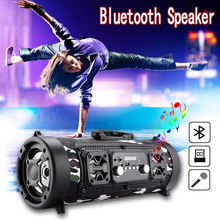 Wireless Bluetooth Speaker Column 15W Computer 2.1 Speaker Super Bass Stereo Subwoofer LED Speaker FM Raido USB AUX TF Card цена и фото