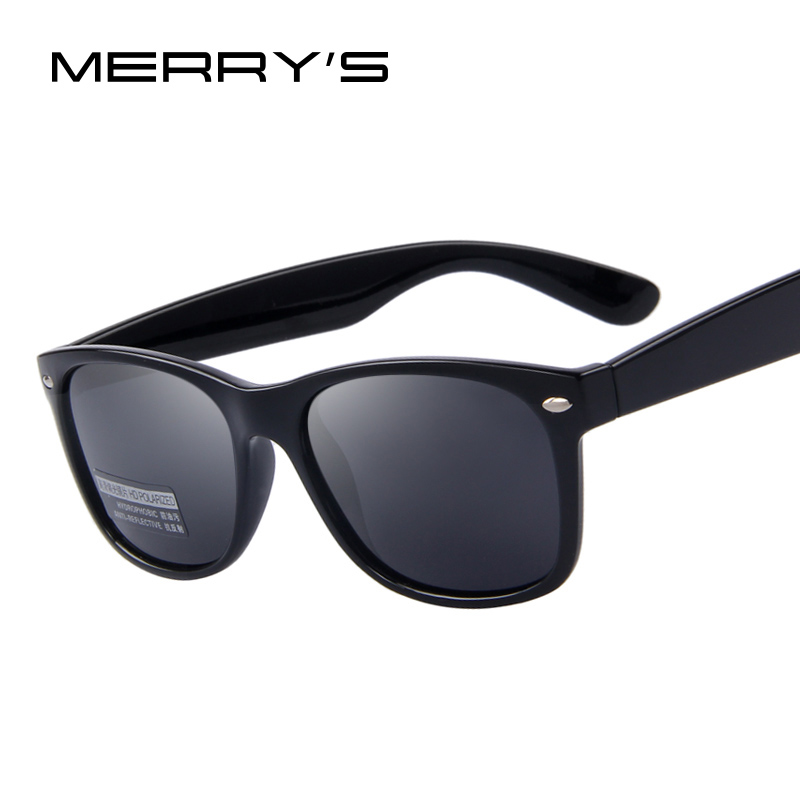 MERRYS Men Polarized Sunglasses Classic Men Retro Rivet Shades Brand Designer Sun Glasses UV400 S683