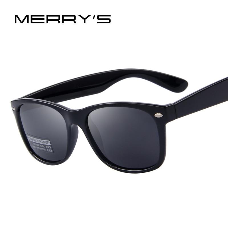 MERRY'S Мужчины Поляризованных Солнцезащитных Очков Классические Мужские Ретро Заклепки Оттенки Марка Дизайнер Солнцезащитные очки UV400