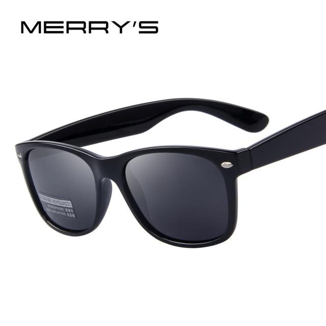 MERRYS Homens Polarizada Óculos De Sol Clássicos Homens Rebite Retro Marca  Designer óculos de Sol Shades f33b08757f