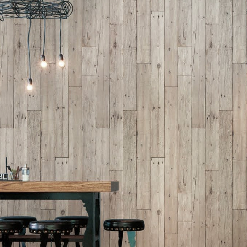 Loft brief wood grain wall covering texture pattern Revetement mural autocollant