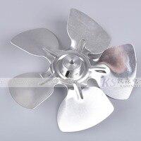직경 170mm * 37mm 5 잎 부싱 고온 방지 알루미늄 합금 오븐 모터/팬 축 방향 팬 블레이드