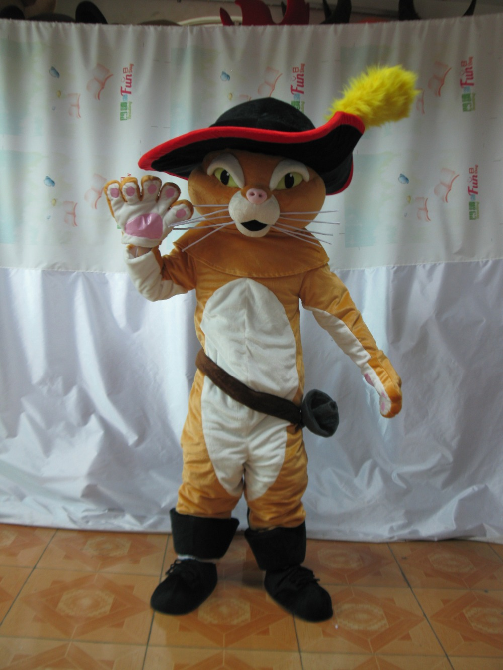 Adult Puss The Boots Cat Mascot costume Party Costumes Carnival Costumes Fancy Dress Costumes for