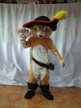 2015 Adult Puss The Boots Cat Mascot costume Party Costumes Carnival Costumes Fancy Dress Costumes