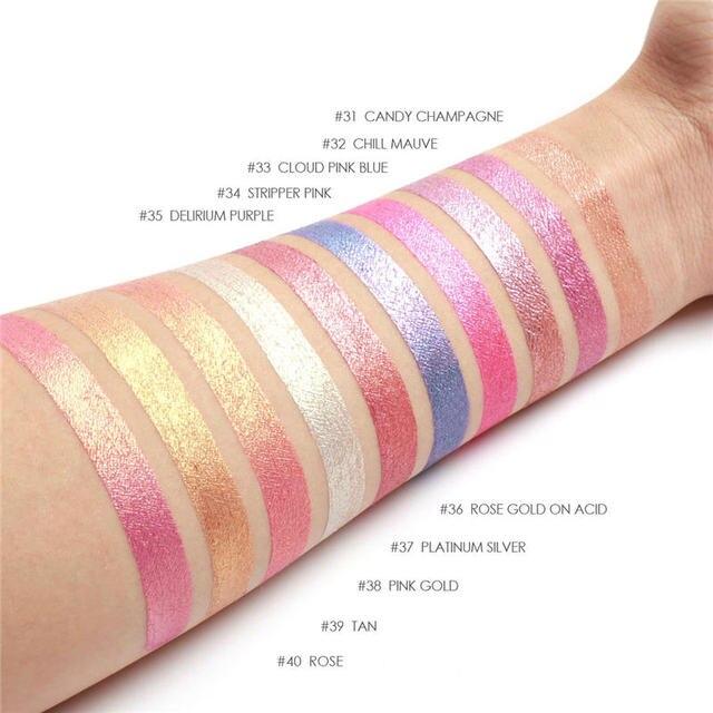 FOCALLURE Waterproof Batom Glitter Matte Lipstick Lip Stick Long Lasting Lip Gloss Beauty Cosmetic Glitter Tint Lip 3