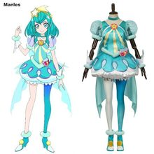 Anime Star Twinkle Pretty Cure Costume Hagoromo Lala Cure Milky Cosplay Yes Pretty Cure 5 HUGtto Carnival Halloween Dress Girl(China)