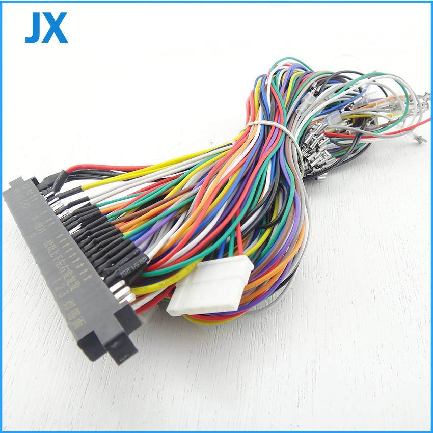 Jamma Harness with 5 6 action button wires Jamma 28 pin with 5 6 buttons wires aliexpress com buy jamma harness with 5, 6 action button wires jamma wiring harness at gsmx.co