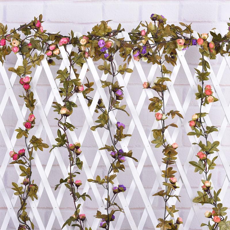 Artificial Silk Rose Vine Hanging Flower Garland Wedding