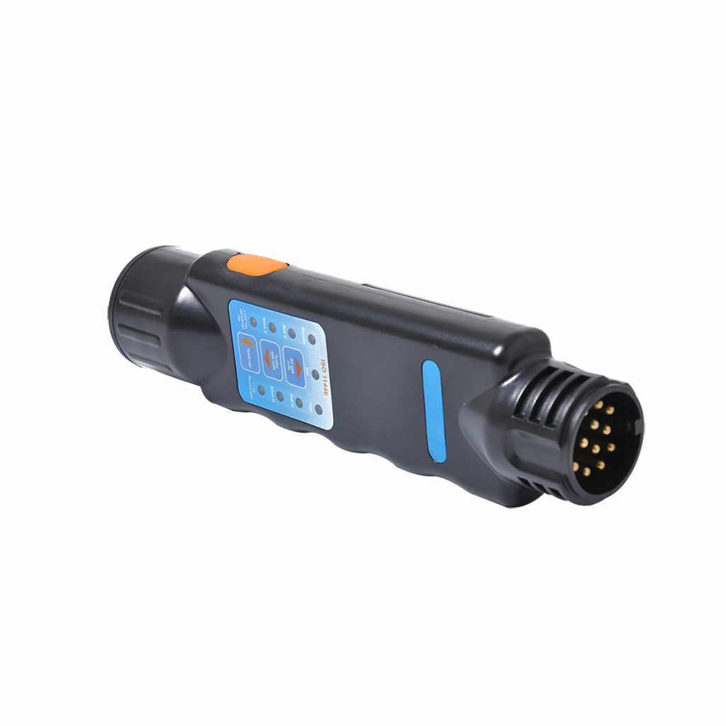 New 13 Pin Trailer Plug Socket Connection Circuit Tester Signal Plug Socket 485