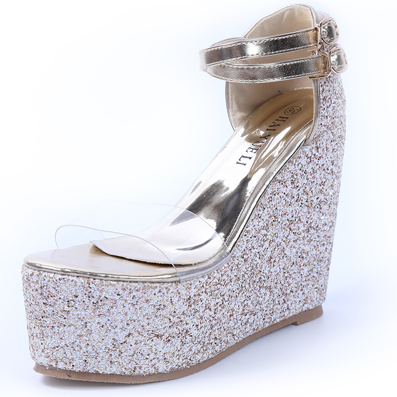 Womens sandals 2017 bohemian beach gold sandals Transparent wedges shoes for women platform sandals gladiator silver sandals phyanic 2017 gladiator sandals gold silver shoes woman summer platform wedges glitters creepers casual women shoes phy3323