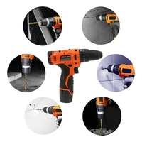 LOMVUM 12V Power Drill Tool Electric Drill screwdriver 12v cordless drills 2 Lithium Ion Battery screw rotary tool drilling