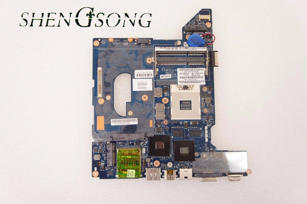 Free Shipping Original Mainboard for DV4 HM55 Series 593119-001 Laptop Motherboard 100% Work Perfect original 615279 001 pavilion dv6 dv6 3000 laptop notebook pc motherboard systemboard for hp compaq 100% tested working perfect