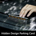 Car Parking Card Stop Sign Telephone Number Card Plate Hidden Design for Mercedes benz w205For Toyota For Jaguar For Range Rover