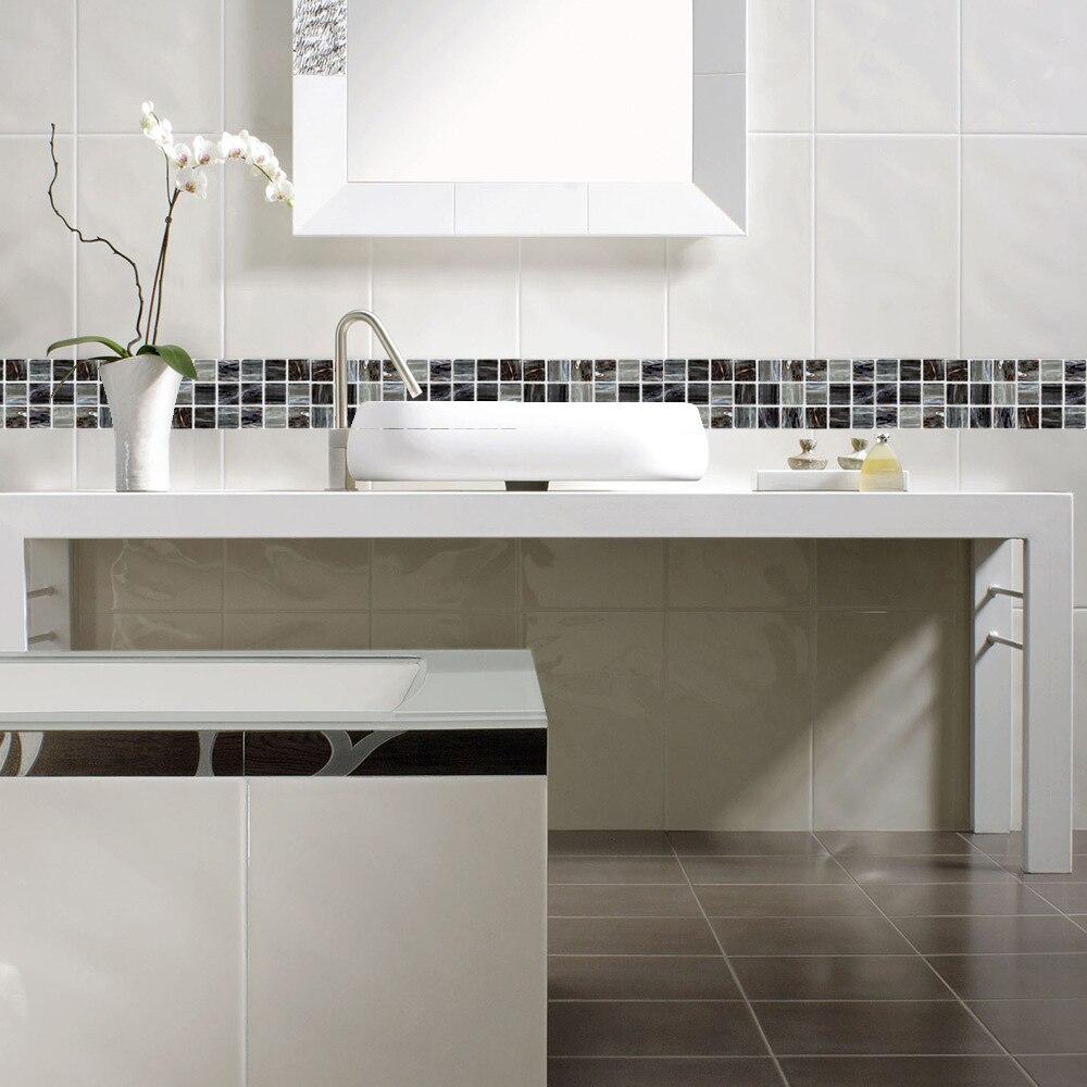 Funlife 10*10cm MarbleMatte Mosaic PVC Waterproof Self Adhesive Wall ...
