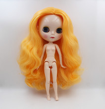 Blygirl,Blyth dolls, egg-yellow curls, 19-joint and 7-joint new normal face shells, 1/6 nude dolls