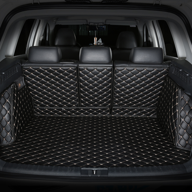 CHOWTOTO Custom Special Trunk Mats For KIA Mohave(7 seats) Durable Waterproof Leather Luggage Mats For Mohave 7 Seats Boot Mats