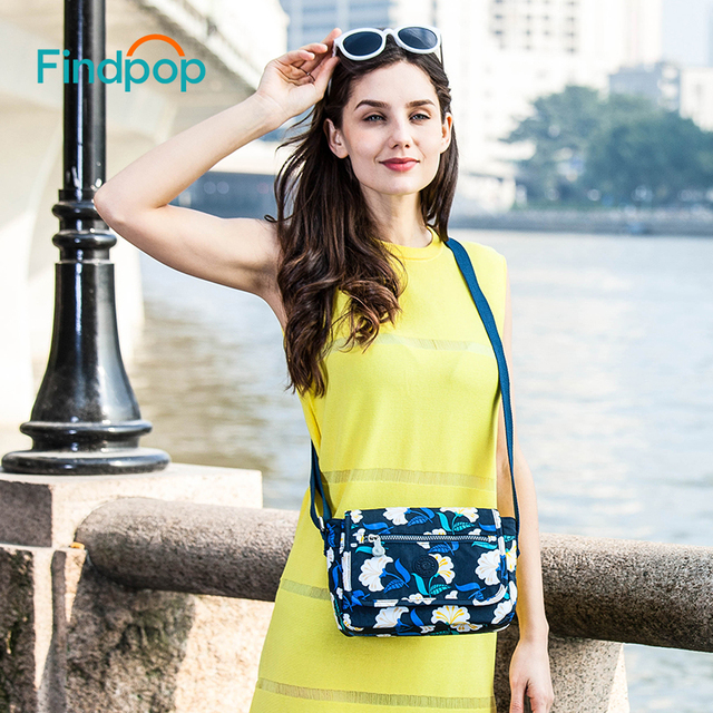 Casual Sling Crossbody Bags For Women Waterproof Small Messenger Bags Fashion Canvas Floral Printing Crossbody Bags 5