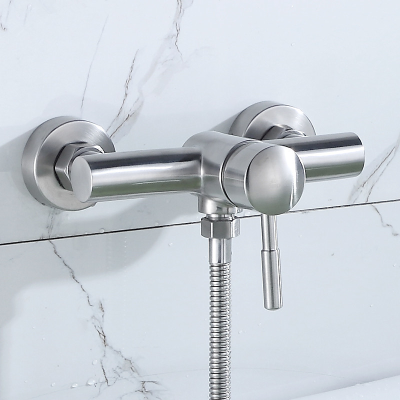 Online Shop Wall Mounted Stainless Steel Shower Mixer Shower ...