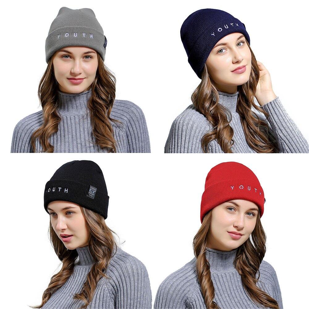 Unisex Winter Hat Knit Hedging Head Cap Warm Fur   Skullies     Beanie   Bonnet Hat Fleece Wool Hat Knitting gorros hombre invierno