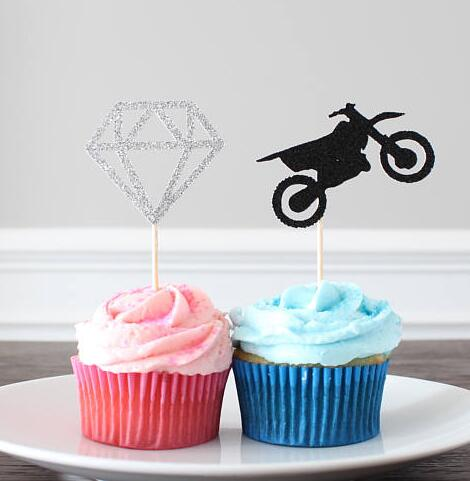 Boots Or Bows Cowgirl Gender Reveal Cupcake Toppers Any Color