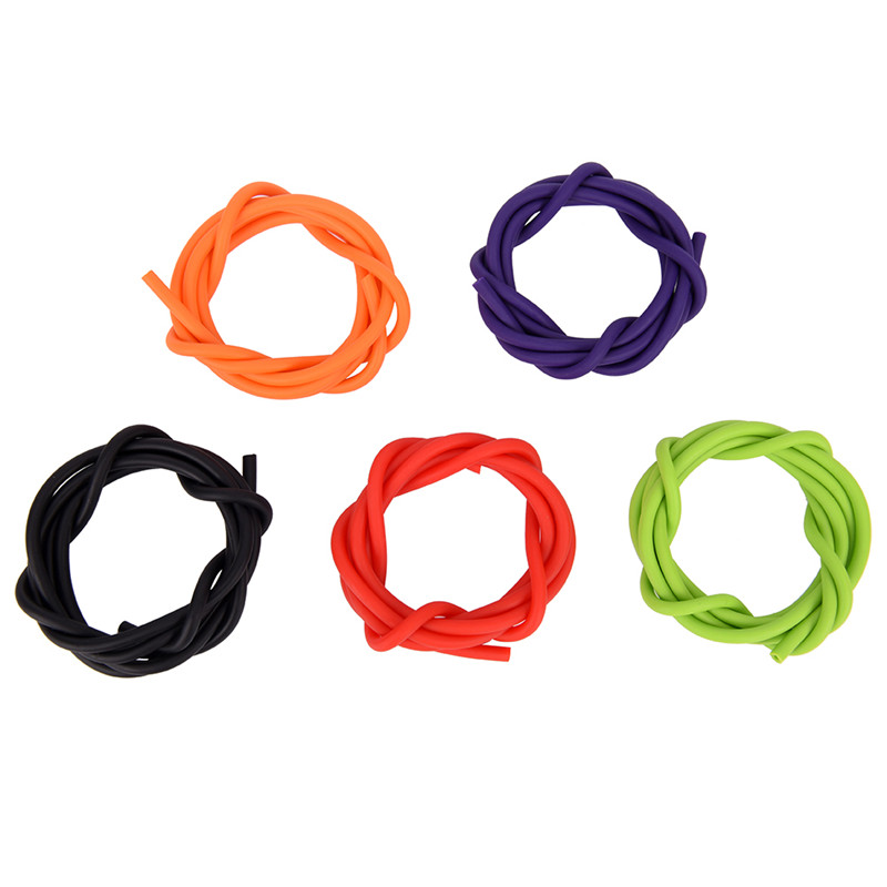 1m 2x4mm Slingshots Rubber Tube Natural Latex Tubing Band For Slingshot Hunting Catapult Elastic Part Fitness Bungee 5 Colors