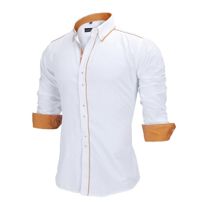 VISADA JAUNA Heren Overhemden Europa maten Nieuwkomers Slim Fit - Herenkleding - Foto 3
