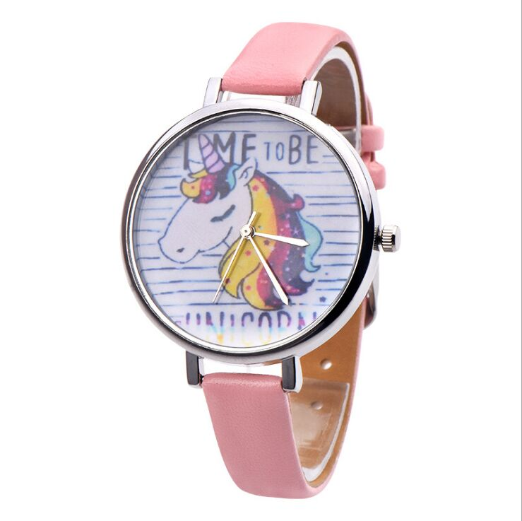 Watches Unicorn Watch Childrens Watches Carton Rainbow Animal Kids Girls Leather Band Analog Alloy Quartz Watches Ladies Wristwatches Special Buy