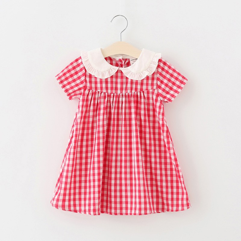 Girl Dresses Summer Baby Girl Clothes Casual Children Dresses For Kids Girls Princess Dress Plaid Kids Dress Infant clothing summer style girl dress cotton baby dress hollow out girls clothing infant princess dress baby girl clothes kids dresses 3 11