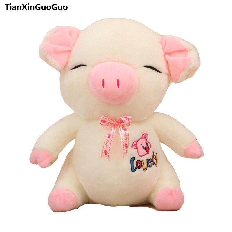 Grand 60 cm beau cochon en peluche jouet dessin animé amour cochon doux poupée jeter oreiller cadeau d'anniversaire s0617