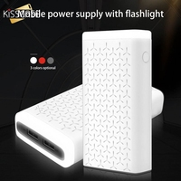 KISSCASE 10000mAh Power Bank Charger External Battery PoverBank Charger 2 USB ports Flashlight Charger for Xiaomi huawei Phone