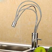 Kreative wasserhahn Küche Wasserhahn Mischbatterie hochwertige Küchenarmatur Dual Loch Wand-küchenarmatur Wasserhahn torneira cozinha