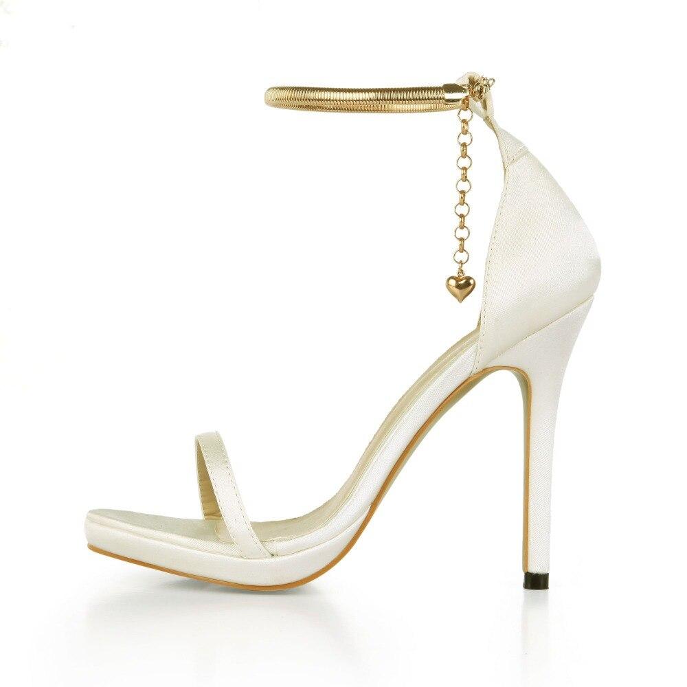 2017 New Arrival Summer Luxury Women Shoe Fashion Gold Chain High Heels Sandals Elegant Woman Party Wedding Shoe Sandalias Mujer hot women party sandals 2016 summer brand elegant high heels sandalias women s dress shoes sandal sjl342
