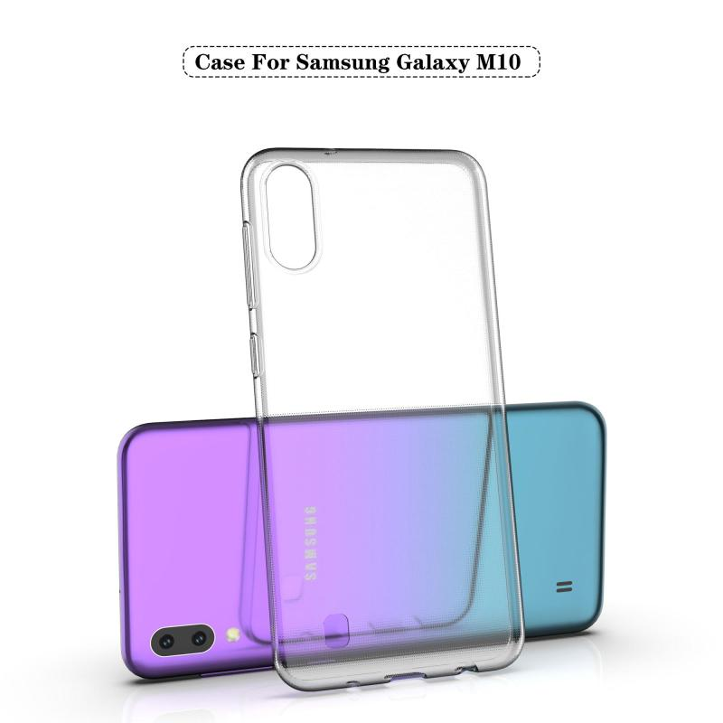 Samsung Galaxy M10 Silicone Soft Clear Squishy Case Ultra-thin Transparent Back Phone Cover Pouch for Samsung Galaxy M10 Case