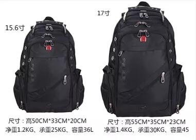 Swiss gear backpack 15 17 laptop bag notebook bag commercial ...